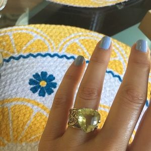 Jewelry - Genuine Citrine sterling silver ring